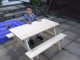 Easy Plans To Build A Picnic Table by The Diyers Photos Kids Picnic Table Built By Aftab