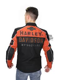 black riding jacket harley davidson mens gastone riding trademark b u0026s reflective