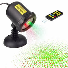 outdoor remote control waterproof red and green garden laser light