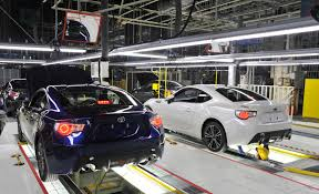 toyota subaru scion production of the subaru brz and toyota gt 86 started