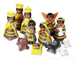 ceramic nativity set of 12 in san juan novica