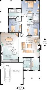 floor plans for narrow lots narrow lot florida ranch 21657dr architectural designs house