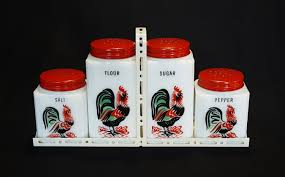 mckee tipp city rooster salt pepper sugar flour shakers with