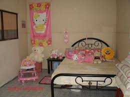 hello kitty bedroom design with lots of furniture idea hello