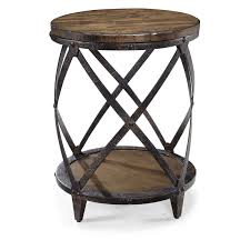 round wood and metal end table magnussen t1755 pinebrook wood round accent table hayneedle