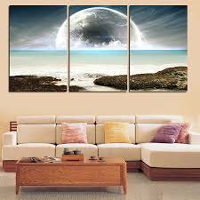 3 pic wall art landscape canvas paintings home decor ocean scenery