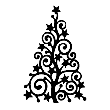 outline of christmas tree