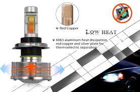 cree 9003 hb2 h4 led headlight conversion kit h4 led headlight