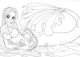 free printable mermaid coloring pages adults tattoo