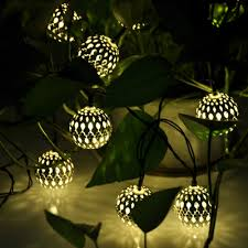 solar powered fairy lights for trees warm white 10 balls set wholesale moroccan string led fairy lights