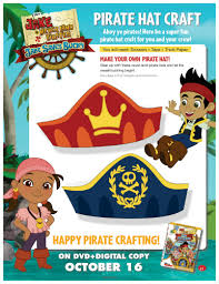 jake neverland pirates printable pirate hat craft mama