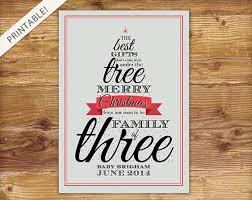 typographic red christmas tree pregnancy by applesandelephants