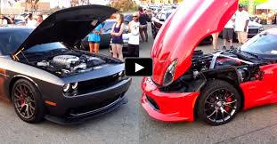 dodge challenger vs viper dodge challenger hellcat vs viper srt rev stand cars