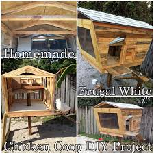homemade frugal white chicken coop diy project the homestead