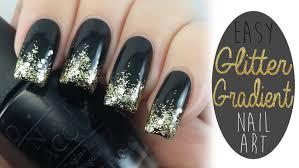 easy nail art glitter easy glitter gradient nail art tutorial new years eve nails youtube