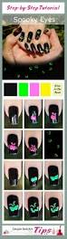 simple tutorial halloween nails u2013 spooky eyes glow in the dark