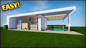 how to build a small modern house minecraft how to build a small modern house easy tutorial how