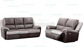canapé 3 2 tissu canapé 3 2 places en tissu haute qualité avec relax électrique 2 pl