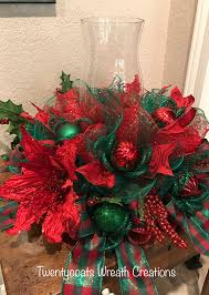 red and green christmas centerpiece by twentycoats wreath