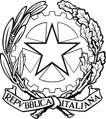file black and white italian republic emblem without striped