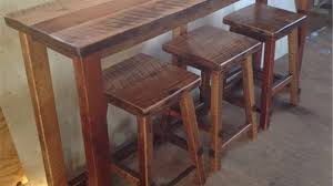Oak Breakfast Bar Table A Barsofa Table From Reclaimed Wood Our Family