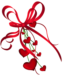 Library Decorations For Valentine S Day by Valentines Day Hearts Decor With Red Bow Png Clipart Clip Art
