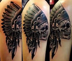 indian headdress tattoo on ribs skull indian headdress tattoo done by bus from tattoos forever in