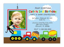 dump truck construction theme birthday party invitation you