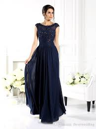 of the groom dress navy of the dress a line scoop cap sleeve