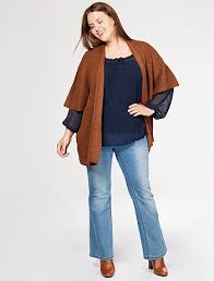 cardigan kimono kimono style ribbed knit cardigan women plus sizes brown kiabi