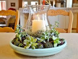 succulent candle centerpiece