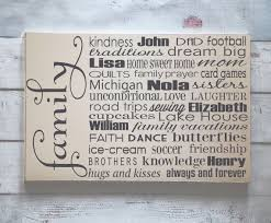 interesting decoration personalized family wall astounding