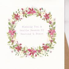 thinking of you flowers thinking of you christmas card sympathy christmas card by the