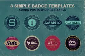 label templates for adobe photoshop 8 simple badge templates dealjumbo com discounted design bundles