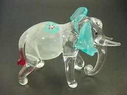glass elephant ornaments ebay