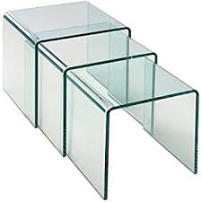 Nesting Coffee Tables Amazon Com Modern Designer 3 Piece Set Premium Clear Acrylic