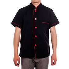 blouse de cuisine jiyaru veste de cuisine blouse cuisinier manche courte uniforme