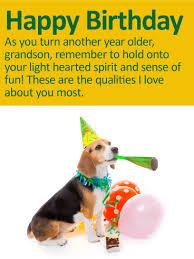 golden balloon happy birthday wishes card for grandson birthday