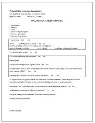 event insurance event insurance forms