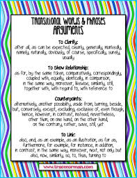mrs orman u0027s classroom common core tips using transitional words
