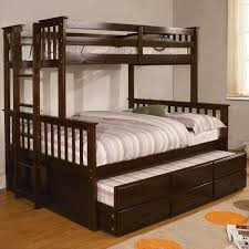 somerset mission style twin over full size bunk bed with trundle