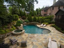 Mountain Lake Pool Design by Atlanta Pool Builder Freeform In Ground Swimming Pool Photos