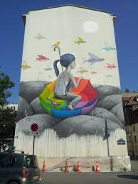 Paris Wall Murals New Umbrella Mural By Seth In Paris Colossal