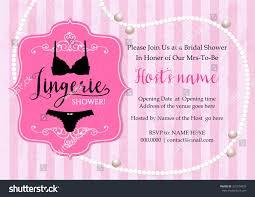 Invitation Card With Photo Lingerie Shower Invitation Card Stripe Pearl Stock Vector