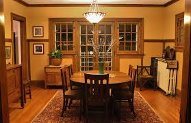 Chair Rails In Dining Room by Craftsman Dining Room With Wainscoting U0026 Bowl Pendant Light In