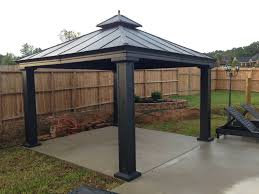 patio gazebo canopy a metal patio gazebo a longer life span design home ideas