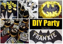 batman party ideas easy batman diy ideas ted s