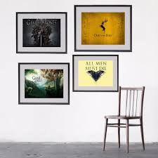 game of thrones logo style canvas art print painting poster