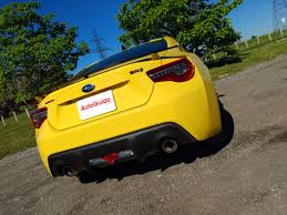 subaru brz exhaust 2017 subaru brz series yellow review autoguide com news