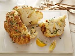 mustard parmesan whole roasted cauliflower recipe food network